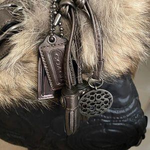 Authentic Coach Fur XL Hobo Purse